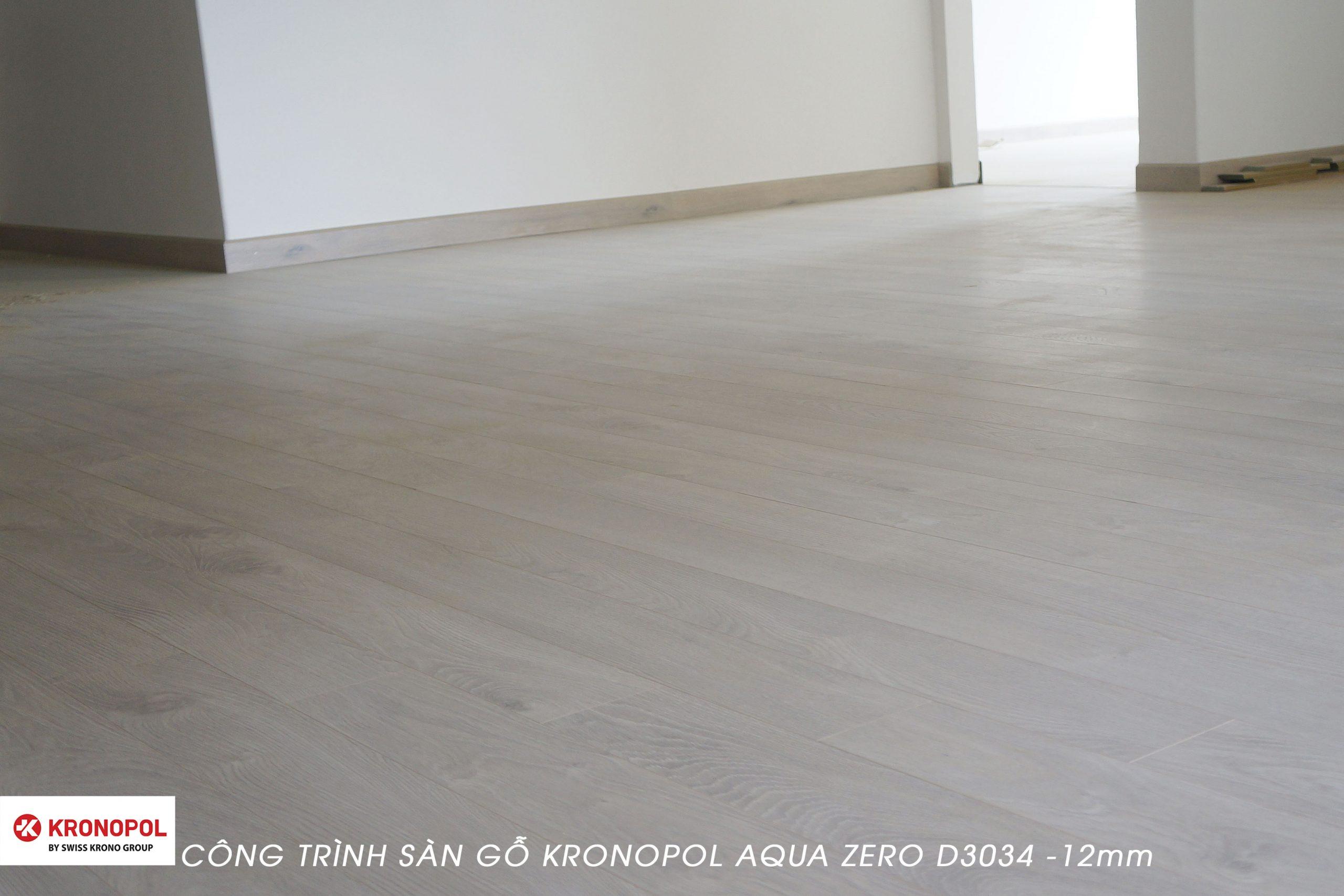 Phòng khách được lắp đặt sàn gỗ Kronopol D3034