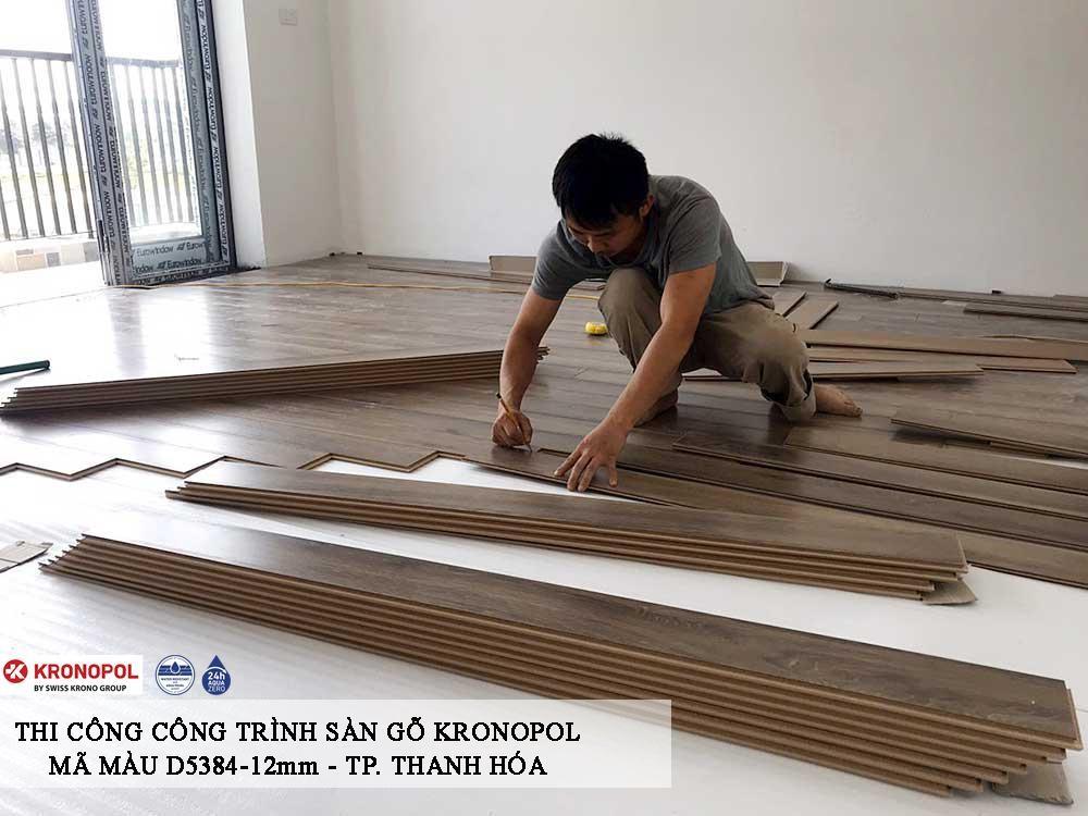 hình ảnh thi công sàn gỗ