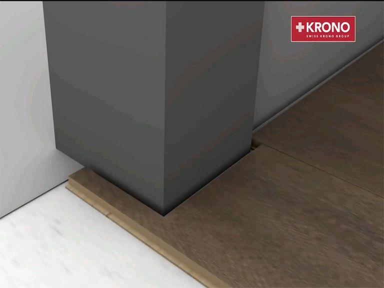 Lắp đặt sàn gỗ quanh các vật cản