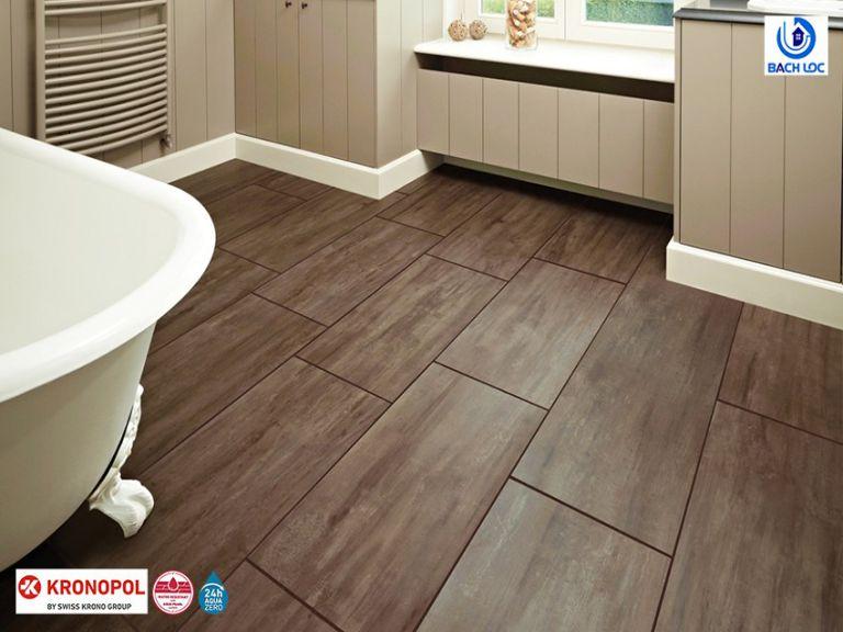 Lát sàn gỗ công nghiệp cho phòng tắm