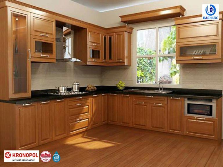 Phòng bếp sử dụng sàn gỗ công nghiệp được không?