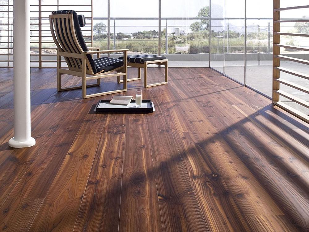 Sàn gỗ gam màu nâu tối