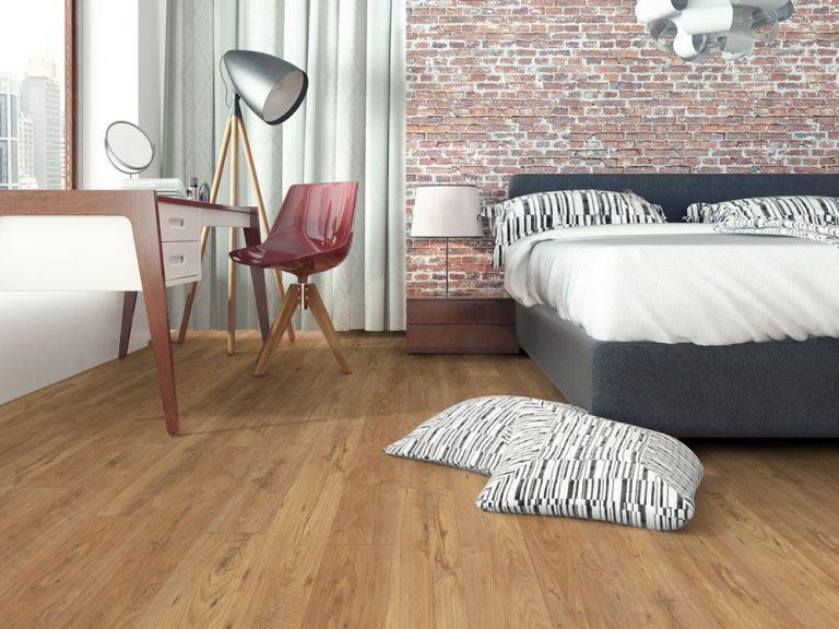 Sàn gỗ màu vàng trung tính