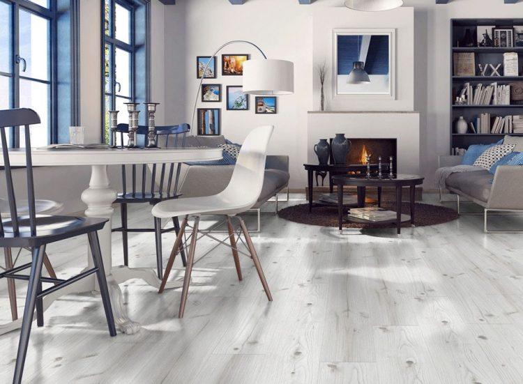 Sàn gỗ màu xám trắng KronoSwiss D2539
