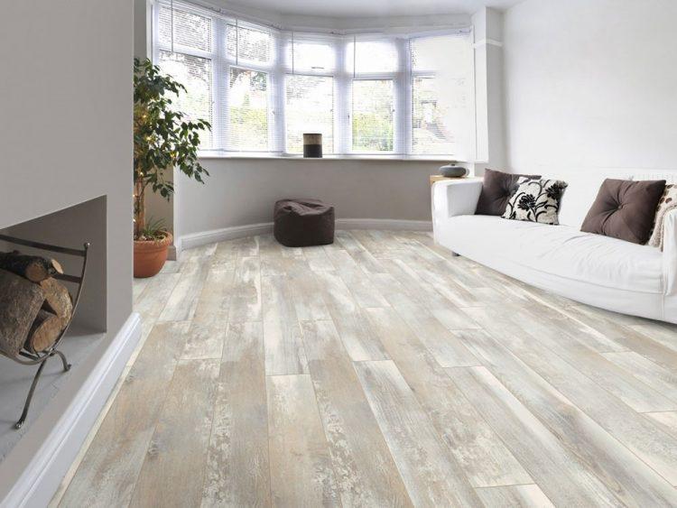 Sàn gỗ màu xám trắng Kronotex D4754