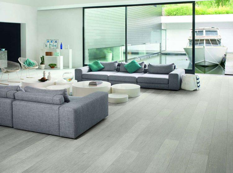 Sàn gỗ màu xám trắng Quickstep 1507
