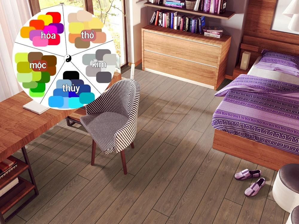 Sử dụng sàn gỗ màu nâu theo phong thủy