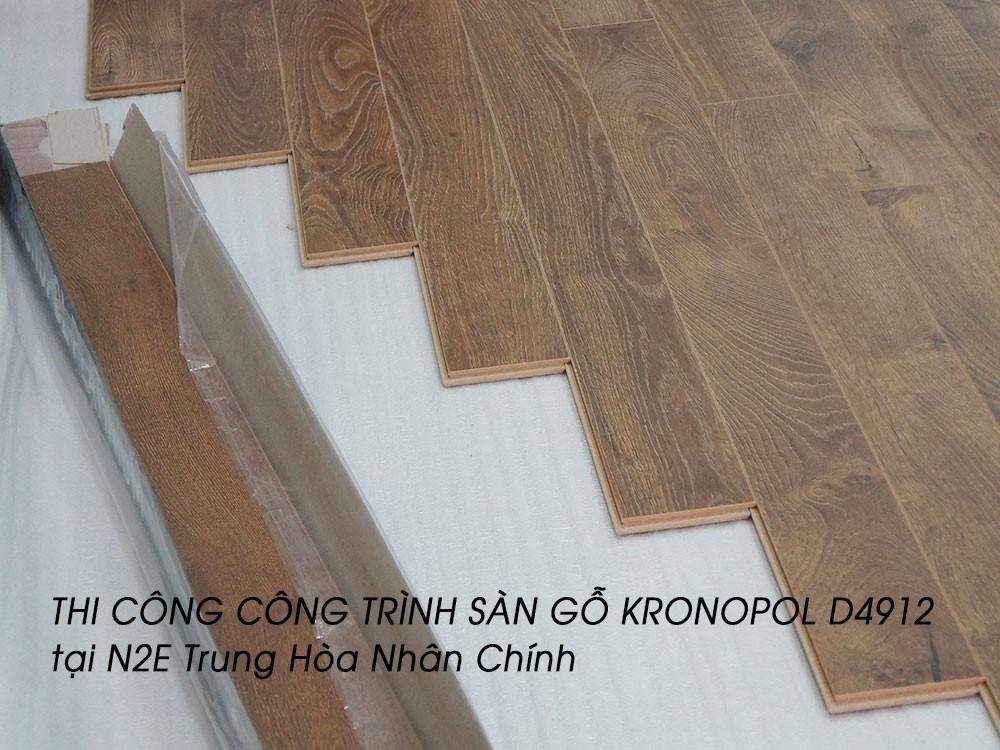 Thi công công trình sàn gỗ Kronopol D4912 tại N2E Trung Hòa Nhân Chính