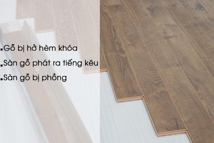 Một vài vấn đề thường gặp sau khi lắp đặt sàn gỗ công nghiệp