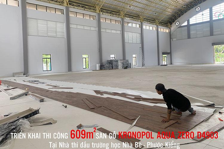 Triển khai thi công sàn gỗ kronopal