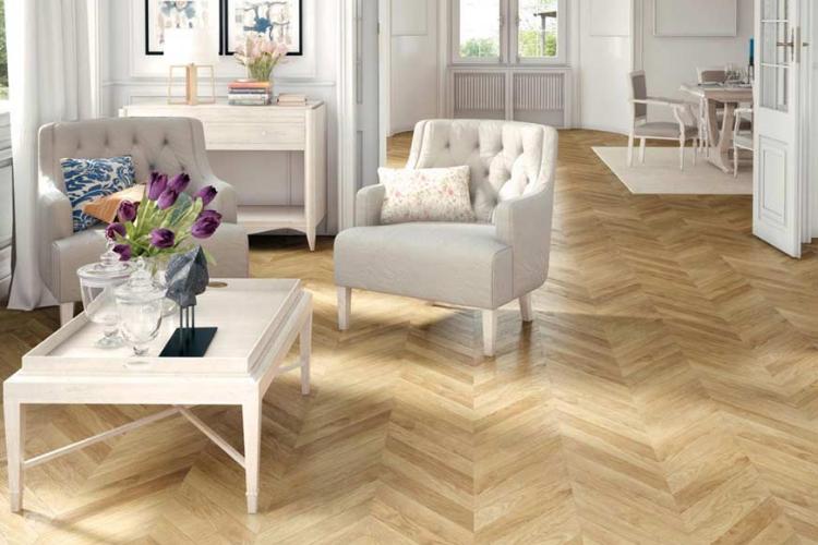 mẫu sàn gỗ phòng khách hiện đại