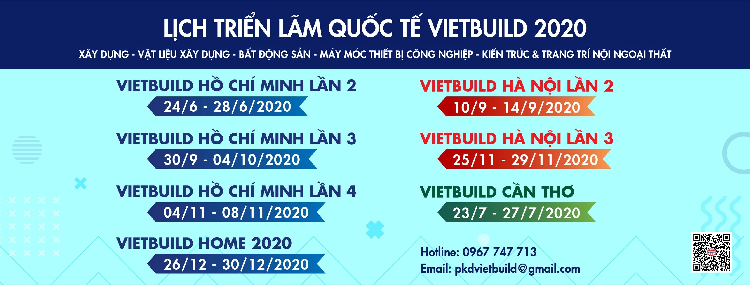 Triển lãm Quốc tế VIETBUILD 2020 TP. HCM - Lần 3 (30/9 – 04/10/2020)
