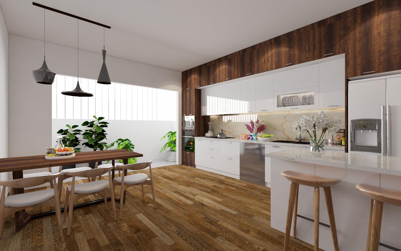 sàn gỗ công nghiệp có vân gỗ đẹp và màu sắc phong phú