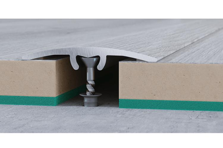Nẹp nhôm chênh cốt dành cho sàn gỗ