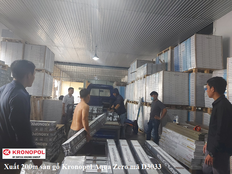 Tổng kho sàn gỗ Kronopol Hồ Chí Minh xuất 200m sàn gỗ Kronopol Aqua Zero mã D3033