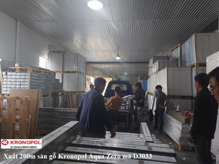 Xuất 200m sàn gỗ Kronopol Aqua Zero mã D3033