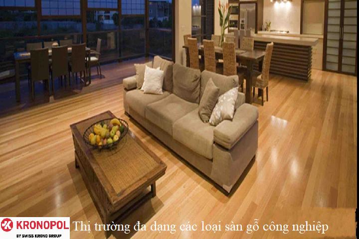 Thị trường đa dạng các loại sàn gỗ công nghiệp