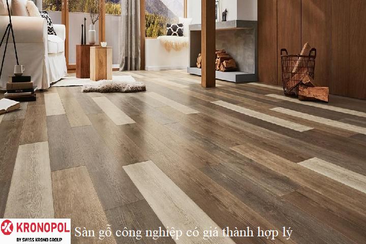 Sàn gỗ công nghiệp có giá thành hợp lý