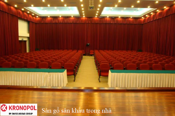 Sàn gỗ sân khấu trong nhà