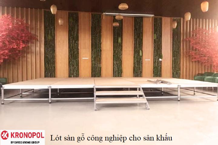 Lót sàn gỗ công nghiệp cho sân khấu