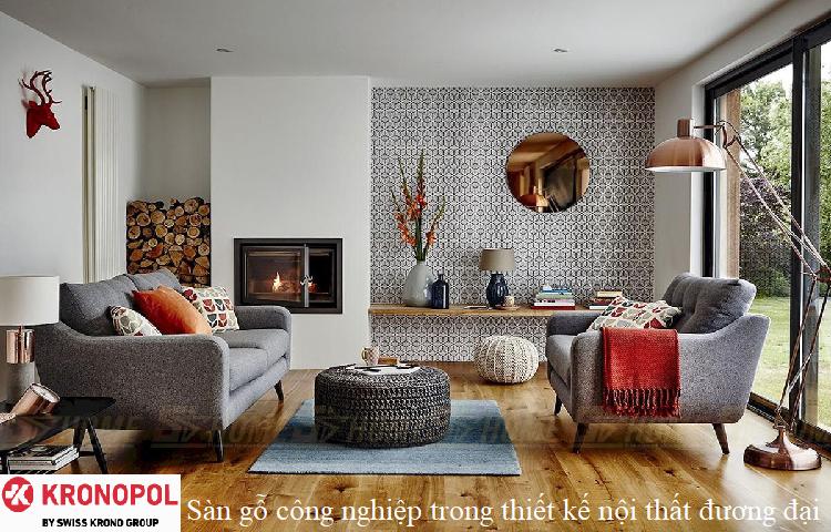 Sàn gỗ công nghiệp trong thiết kế nội thất đương đại