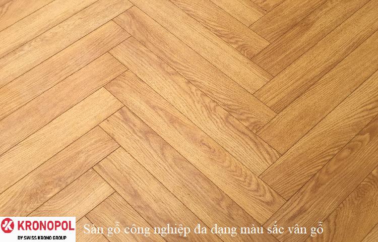 Sàn gỗ công nghiệp đa dạng màu sắc vân gỗ