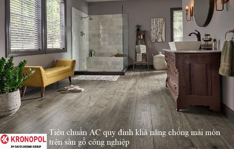 Tiêu chuẩn AC quy đinh khả năng chống mài mòn trên sàn gỗ công nghiệp