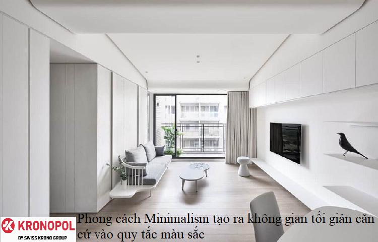 Phong cách Minimalism tạo ra không gian tối giản căn cứ vào quy tắc màu sắc